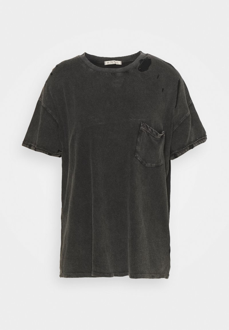 Free People - RUBI TEE - Jednoduché triko - washed black