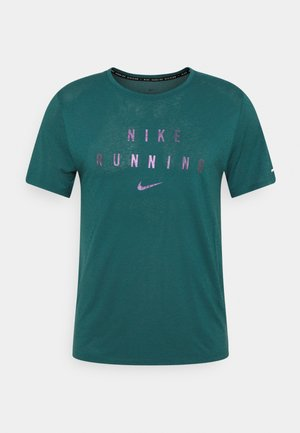 RUNNING DIVISION MILER - Camiseta estampada - dark teal green