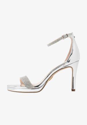 MONROE - Sandalen met hoge hak - silver