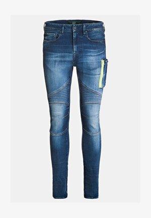 FIT REISSVERSCHLUSS - Jeans Skinny Fit - blau