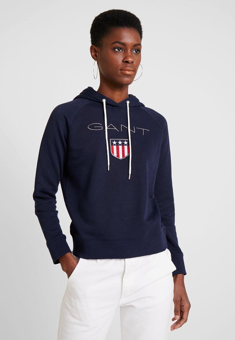 GANT - SHIELD HOODIE - Hoodie - marine