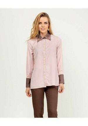 Overhemdblouse - rosa