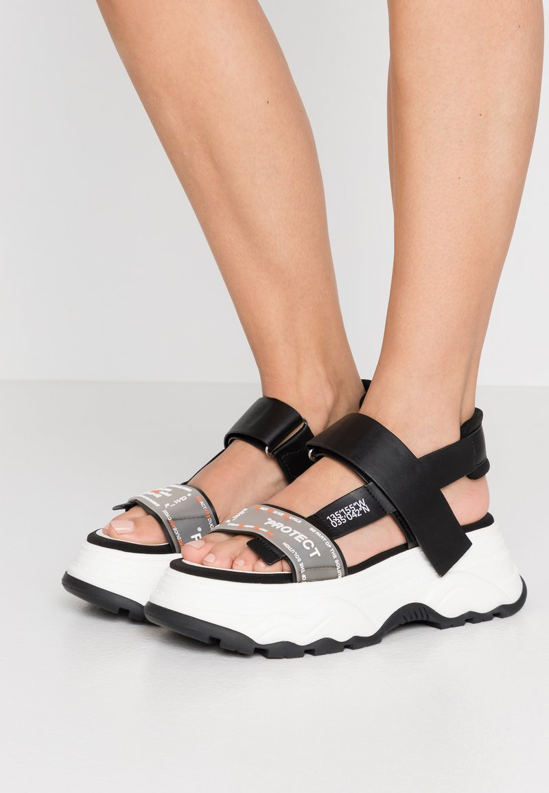 F_WD - Platform sandals - black