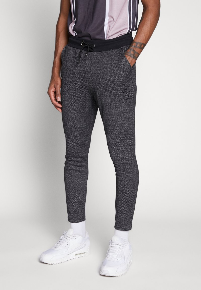 CLOSURE London - TEXTURED STRIPE TROUSER - Pantalones deportivos - grey