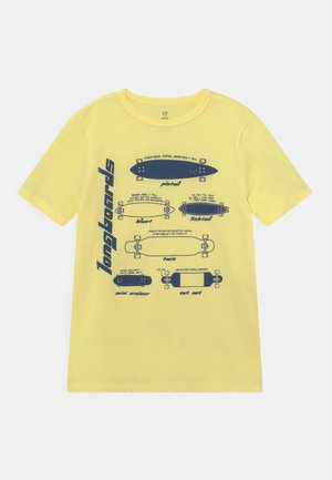 T-shirt print - soft yellow