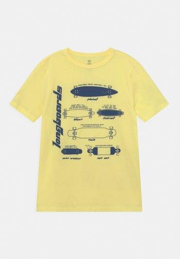 T-Shirt print - soft yellow