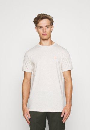 NØRREGAARD - T-shirt basic - ivory melange