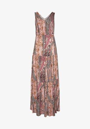 Maxi dress - rosa-bedruckt