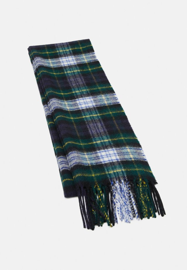 100% Cashmere Tartan Scarf - Scarf - green/blue