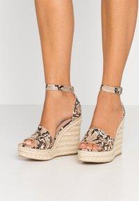 Steve Madden - SIVIAN - High heeled sandals - beige - 0