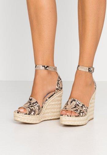 SIVIAN - High heeled sandals - beige