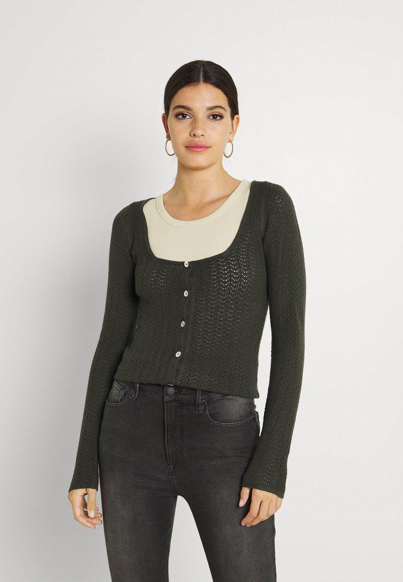 Fashion Union - ELISHA - Cardigan - khaki