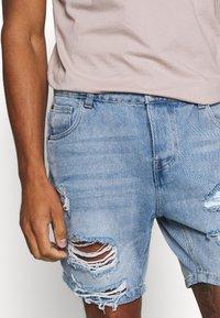 Brave Soul - DUKE - Denim shorts - light blue - 4