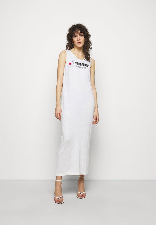 Gebreide jurk - optical white