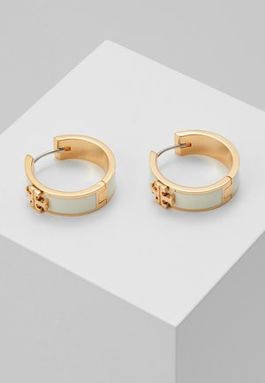 KIRA HUGGIE EARRING - Náušnice - tory gold-coloured/new ivory