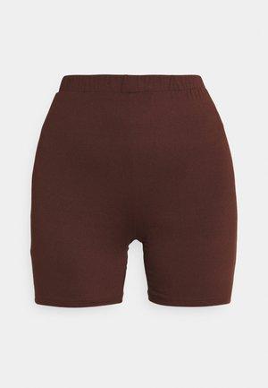 VIBE BIKER - Shorts - chocolate fondant