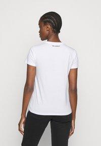 KARL LAGERFELD - RHINESTONE LOGO  - T-Shirt print - white - 2