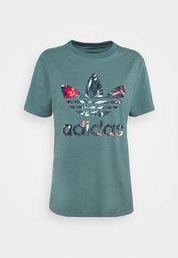 Print T-shirt - hazy emerald