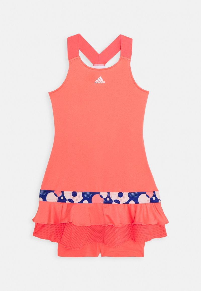 adidas Performance - FRILL DRESS - Sportovní šaty - red