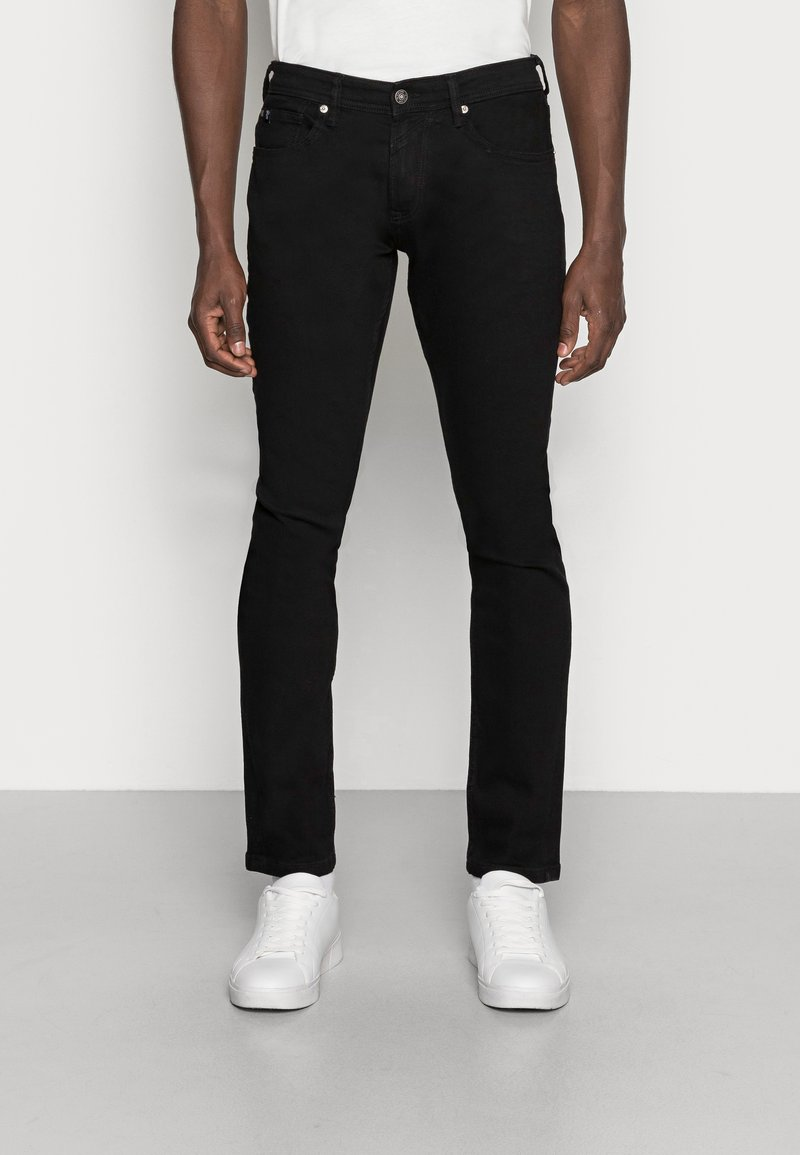 TOM TAILOR DENIM - SUPER PIERS  - Slim fit jeans - black denim