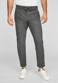 Q/S designed by - SLIM FIT - Trousers - anthracite - 0