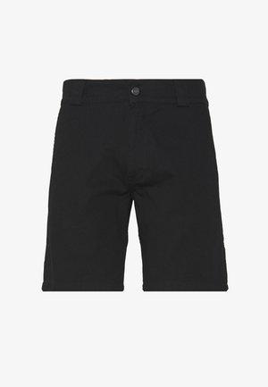 UNISEX SWEET STRAIGHT WORK CHINO SHORTS - Szorty - black