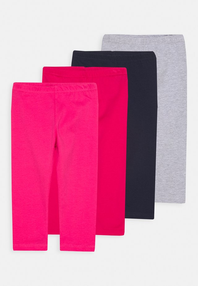 SMALL GIRLS 4PACK - Leggingsit - pink/grey/navy/red