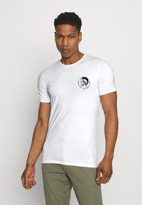 Diesel - UMTEE RANDAL 3 PACK - T-shirt basic - white/ grey melange/ black - 1