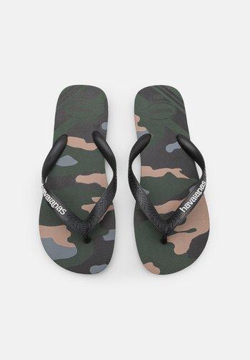 UNISEX - T-bar sandals - green olive