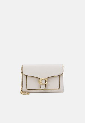 BEAD CHAIN TABBY CHAIN CLUTCH - Schoudertas - chalk