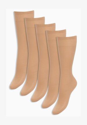 FIVE PACK - Knee high socks - nude