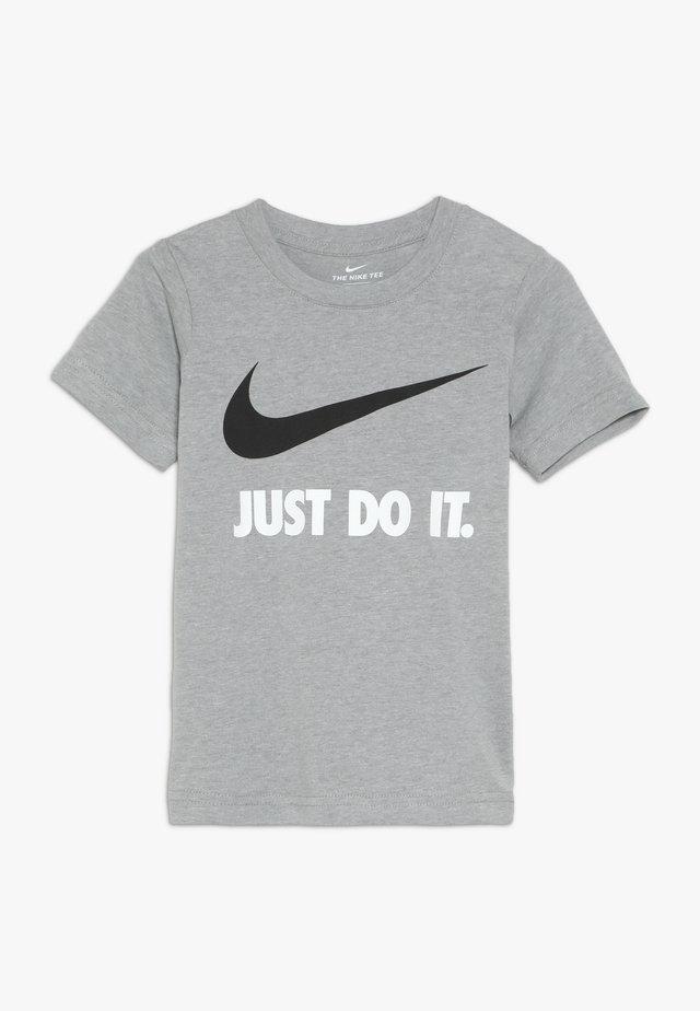 TEE - T-shirt z nadrukiem - dark grey heather/white