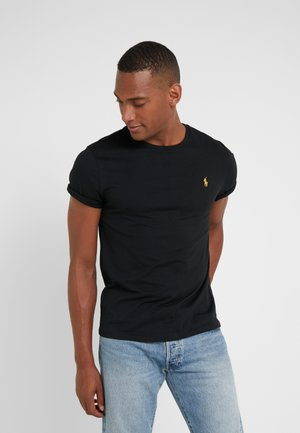 SLIM FIT - T-paita - black