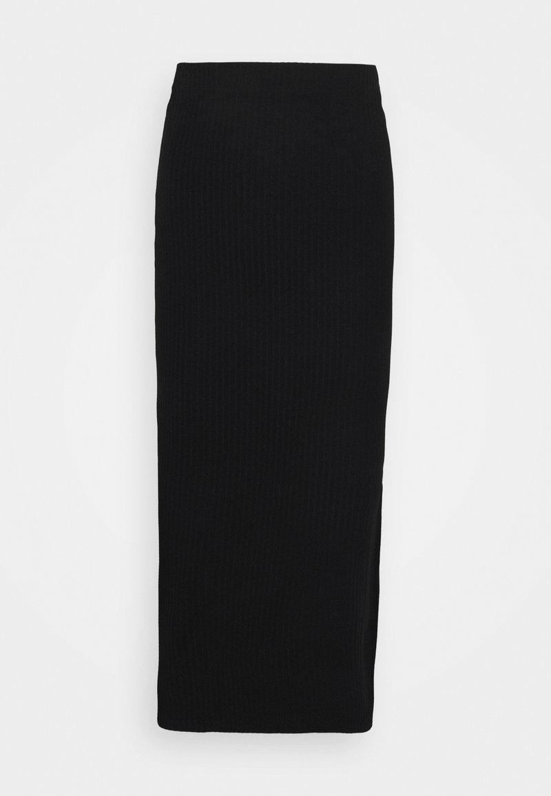 ONLY Tall - ONLNELLA LONG SLIT SKIRT - Maxiskjørt - black