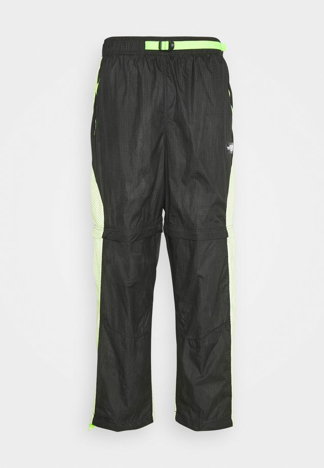 TRACK PANT - Teplákové kalhoty - black/light liquid lime/electric green