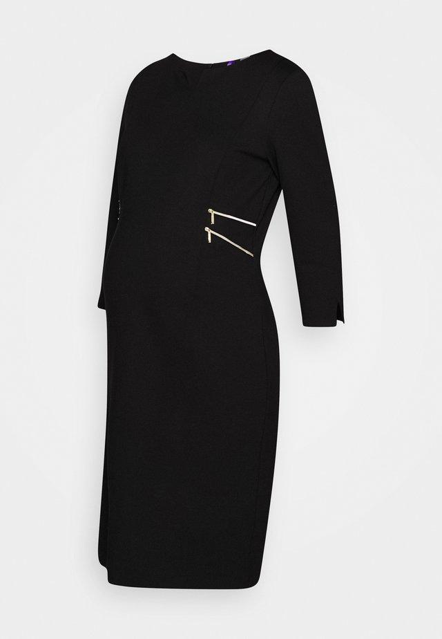 AUDREY - Jerseykleid - black