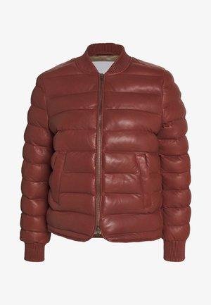 ECHO - Leather jacket - mahogany