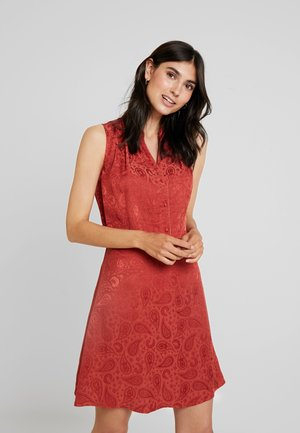 PAISLEY - Day dress - terracotta