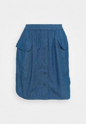 SLFCLARISA SHORT SKIRT - Miniskjørt - medium blue denim