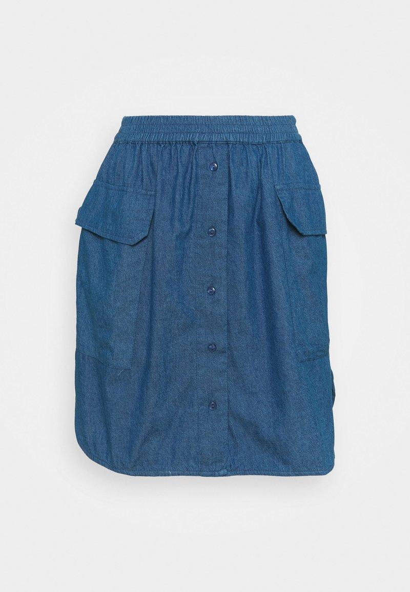 Selected Femme Petite - SLFCLARISA SHORT SKIRT - Minisukně - medium blue denim