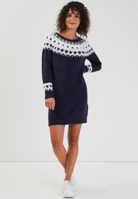 Cache Cache - GERADES - Jumper dress - bleu marine - 1