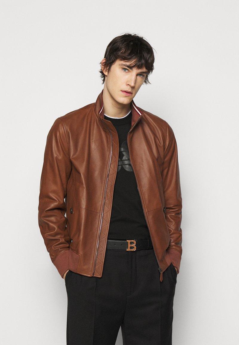 Bally - Kožená bunda - brown