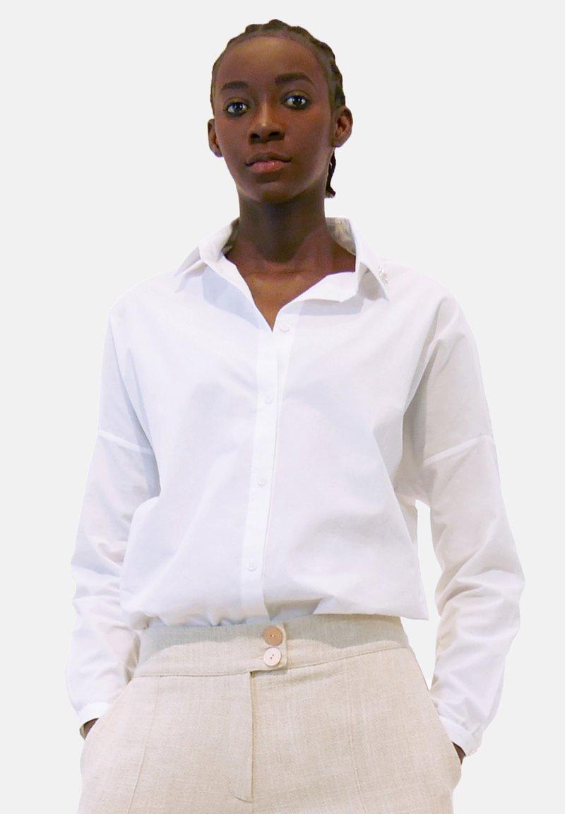 Aline Celi - Button-down blouse - white