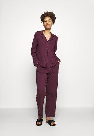 NEW SIGNATURE - Pyžamová sada - burgundy