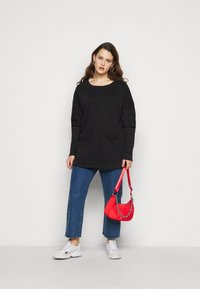 Simply Be - DRESS WITH DOUBLE LAYER SLEEVE - Day dress - black - 1