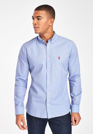 BLUE/PINK SLIM FIT STRIPE STAG SHIRT - Shirt - blue