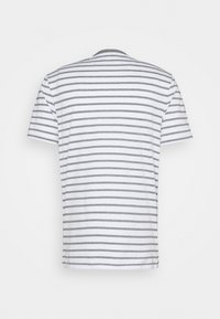 Lyle & Scott - BRETON STRIPE - T-shirt med print - mid grey marl/white - 7