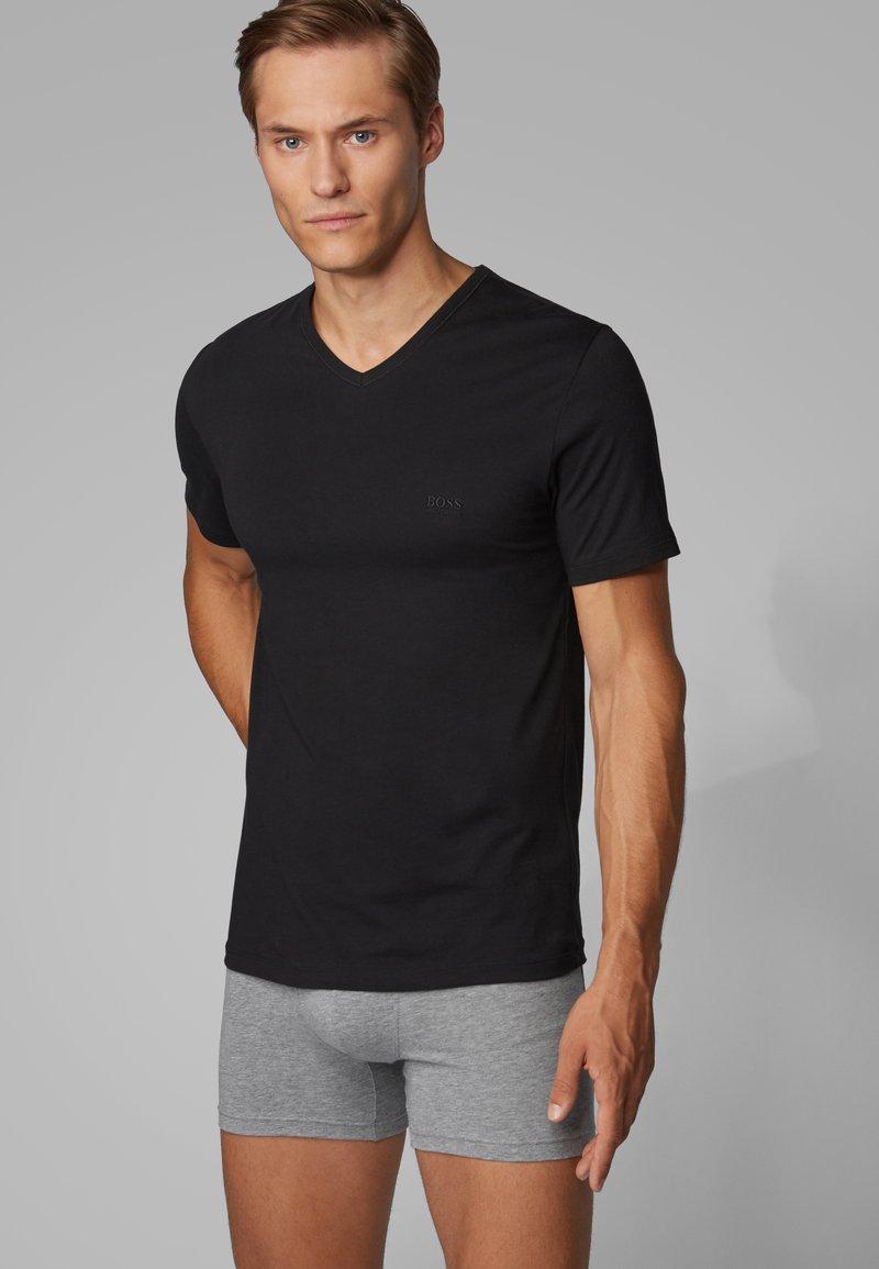 BOSS - 3 PACK - Undershirt - black