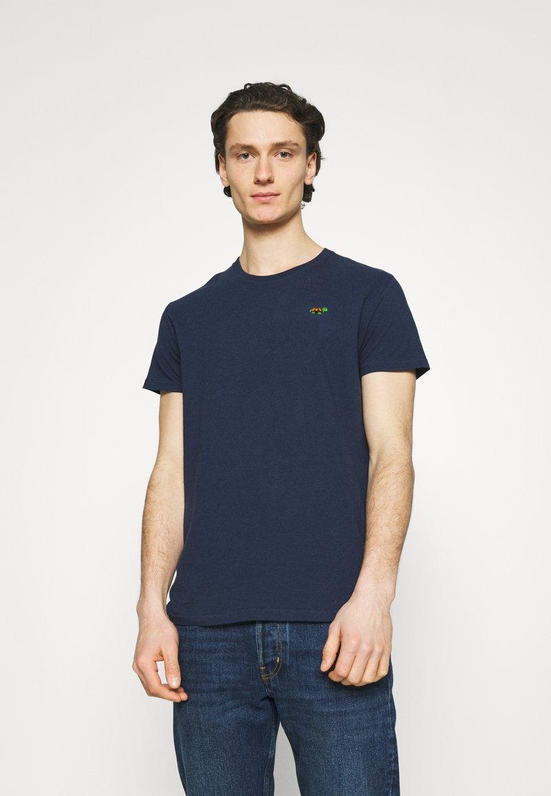 REVOLUTION - REGULAR - Basic T-shirt - navy melange