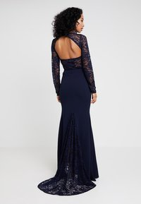 Missguided - BRIDESMAID BACKLESS LACE DETAIL FISHTAIL MAXI DRESS WITH TRAIN  - Ballkjole - navy - 0